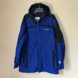 Columbia Whirlibird Interchange Blue Ski Jacket